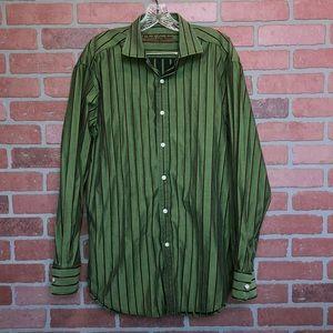 Robert Graham button front shirt XL striped (BB50)
